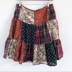 American Living   patched boho gypsy skirt